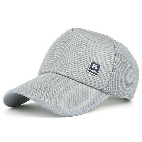 Fashion Outdoor Tiny Letter Partten Baseball Hat GRAY
