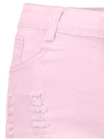 Online High Waisted Ripped Denim Shorts - S PINK Mobile