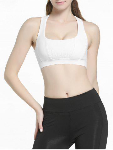 Buy Criss Cross Sports Padded Bra - S WHITE Mobile