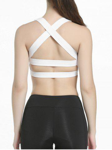Sale Criss Cross Sports Padded Bra - S WHITE Mobile