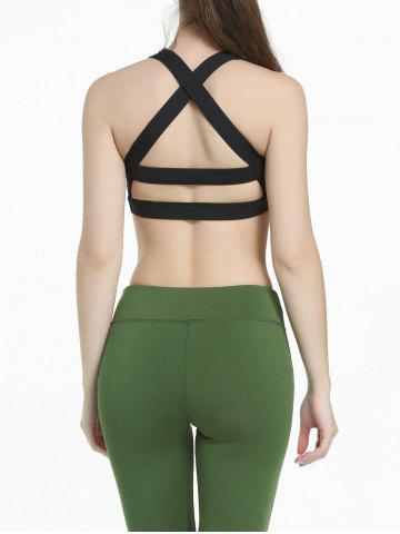 Outfit Criss Cross Sports Padded Bra - S BLACK Mobile