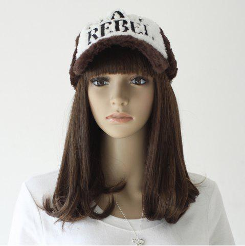 Buy Neat Bang Medium Slightly Curly Synthetic Wig - 16INCH TAUPE Mobile