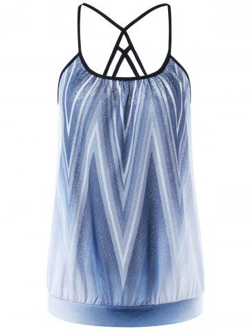 Buy Strappy Ombre Zigzag Camis COLORMIX XL