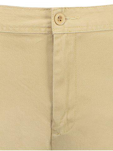 Outfit Zip Fly Pockets Bermuda Cargo Shorts - 34 KHAKI Mobile
