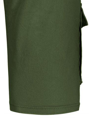 Shops Zip Fly Pockets Bermuda Cargo Shorts - 38 ARMY GREEN Mobile