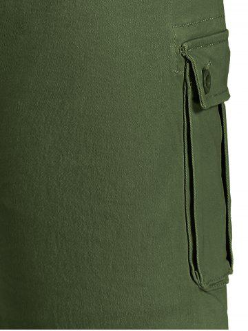 Fashion Zip Fly Pockets Bermuda Cargo Shorts - 38 ARMY GREEN Mobile