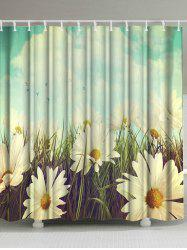 Thicken Pastoral Flower Anti-bacteria Shower Curtain