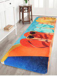 Coral Velvet Beach Flip Flops Large Bathroom Rug