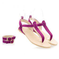 Belt Buckle Flat Heel Sandals