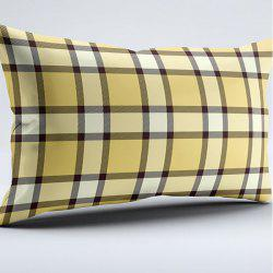 Plaid Print Brushed Fabric Bedroom Pillow Case