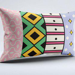 Geometric Print Brushed Fabric Vintage Pillow Case