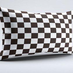 Brushed Fabric Plaid Two Side Print Pillow Case