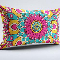Flower Print Brushed Fabric Pillow Case