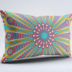 Brushed Fabric Mandala Print Flower Pillow Case