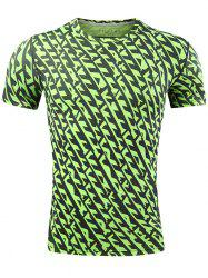 Quick Dry All Over Printed Sport T-shirt