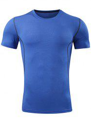 Quick Dry Geometry Pattern Sport Gym T-shirt