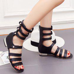 Flat Heel Strappy Gladiator Sandals