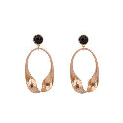 Metal Oval Vintage Drop Earrings