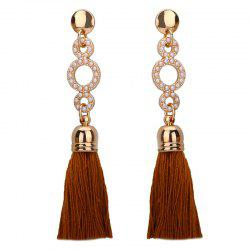 Artificial Pearl Tassel Circle Drop Earrings