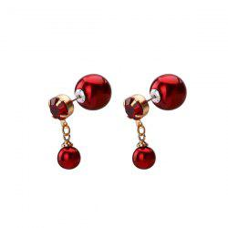 Rhinestone Ball Shaped Front Back Earrings
