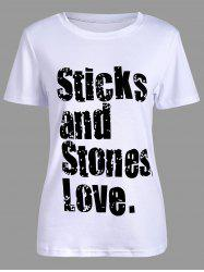 Sticks and Stones Love Pattern T-Shirt