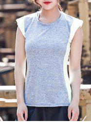 Two Tone Sleeveless Sports Top