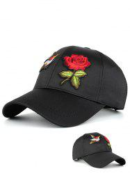 Bird Rose Embroidery Sunscreen Baseball Hat