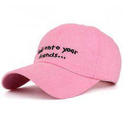 Summer Sunproof Letters Embroidered Baseball Hat