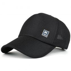 Outdoor Tiny Letter Partten Baseball Hat - BLACK
