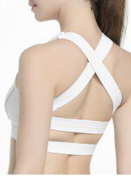Criss Cross Sports Padded Bra - WHITE