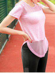 Mesh Panel Sports Top