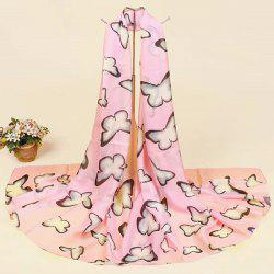 Smooth Butterfly Printing Imitation Silk Scarf