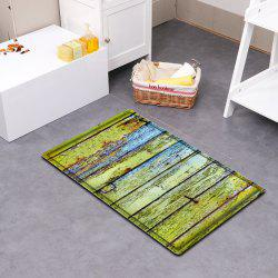 Corroded Wood Floor Pattern Water Absorbing Bathroom Floor Mat