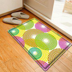 Colorful Pattern Water Absorbing Flannel Bathroom Floor Mat