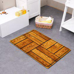 Wood Floor Pattern Water Absorbing Bathroom Mat