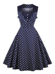 Polka Dot Button Vintage Dress