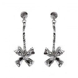 Bowknot Hammered Drop Earrings