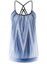 Strappy Ombre Zigzag Camis - COLORMIX XL