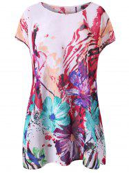 Splash Ink Floral Plus Size T-Shirt