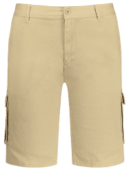 Zip Fly Pockets Bermuda Cargo Shorts -