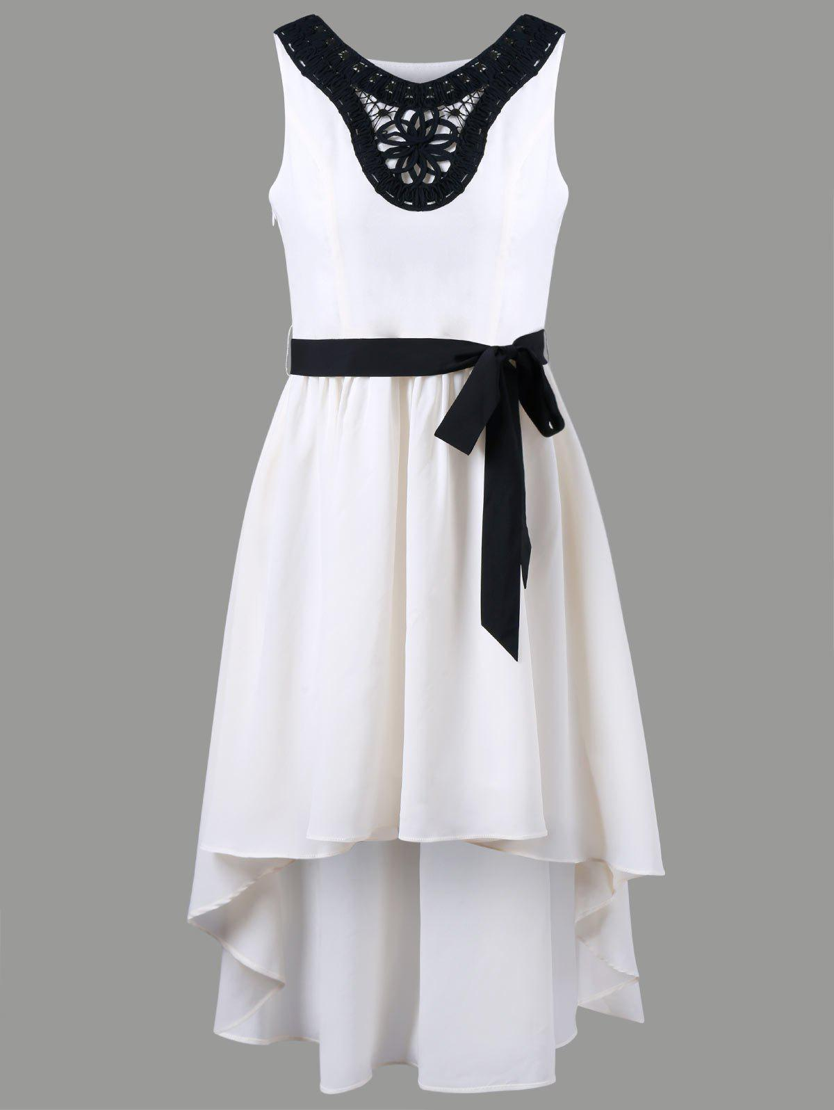 Affordable Chiffon Applique High Low Dress