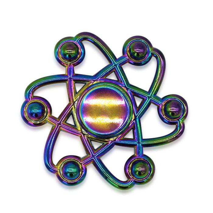 Chic Colorful Floral Fidget Metal Spinner Anti-stress Toy