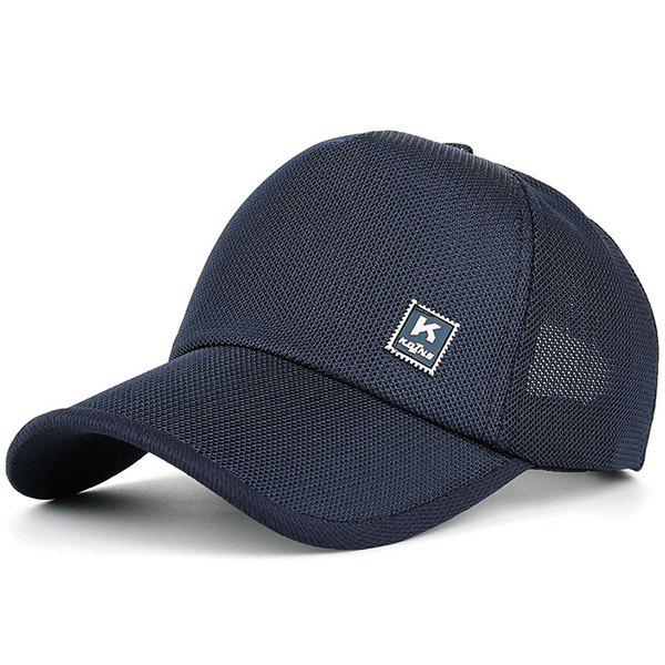 Outdoor Tiny Letter Partten Baseball HatACCESSORIES<br><br>Color: CADETBLUE; Hat Type: Baseball Caps; Group: Adult; Gender: Unisex; Style: Fashion; Pattern Type: Letter; Material: Polyester; Circumference (CM): 56-62CM; Weight: 0.0900kg; Package Contents: 1 x Hat;
