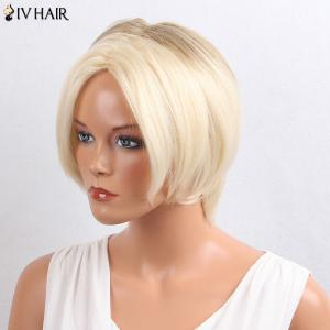 Siv Hair Colormix Short Middle Parting Straight Bob Hair Hair Wig - Красочный