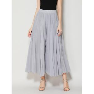 High Waist Chiffon Flowy Wide Leg Pants - Light Gray - One Size