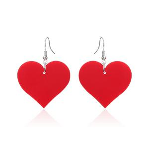 Alloy Heart Shape Drop Earrings