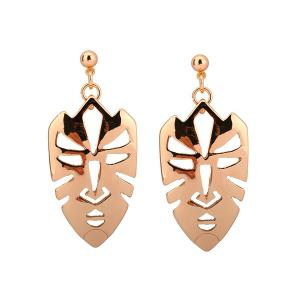 Gold Plated Mask Shape Alloy Earrings