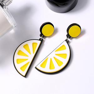 Fruit Lemon Shape Drop Earrings