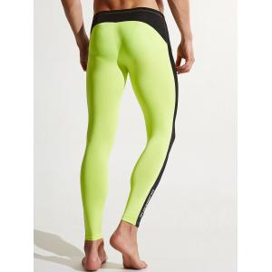 Stripe Contraste Dry Dry Athletic Pants - Pomme Verte 2XL