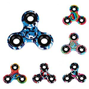 Printed Hand Stress Relief Toys Fidget Spinner - BLACK